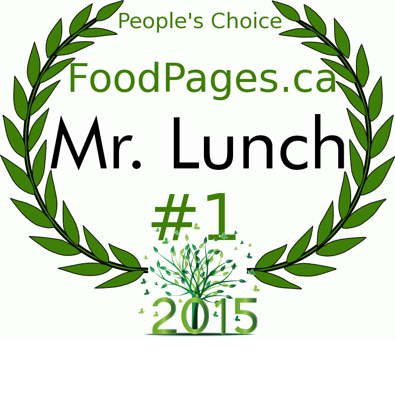 Mr. Lunch FoodPages.ca 2015 Award Winner